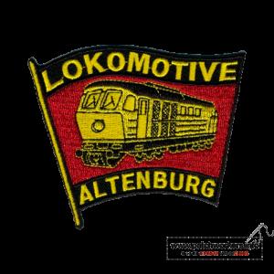 Aufnäher bestellen Kettelrand: Gestickter Aufnäher Lokomotive Altenburg