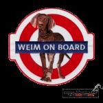 Gestickter Aufnäher Weim on Board